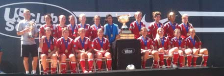 Girls 94 Reds take National title in Chicago